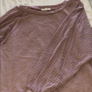 Blush long sleeve top from Anthropologie